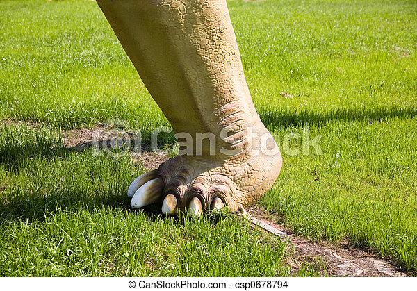 Diplodocus longus leg - csp0678794