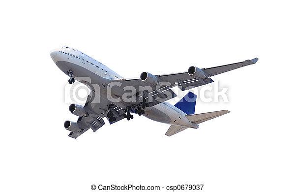 Airplane on white - csp0679037