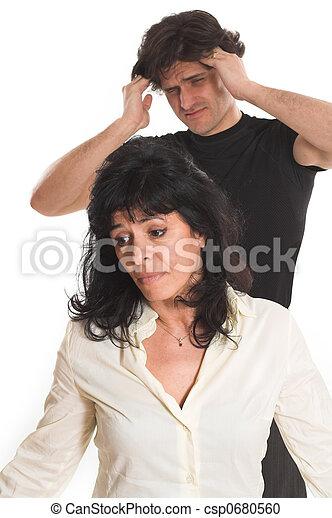 portrait of couple arguing - csp0680560