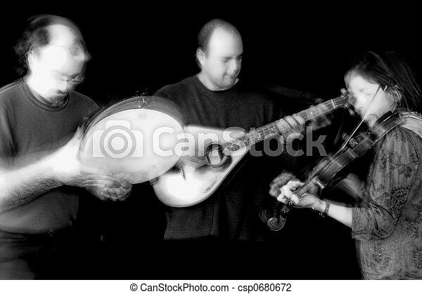 band playing celtic music