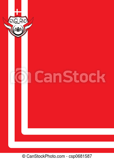 england background red - csp0681587