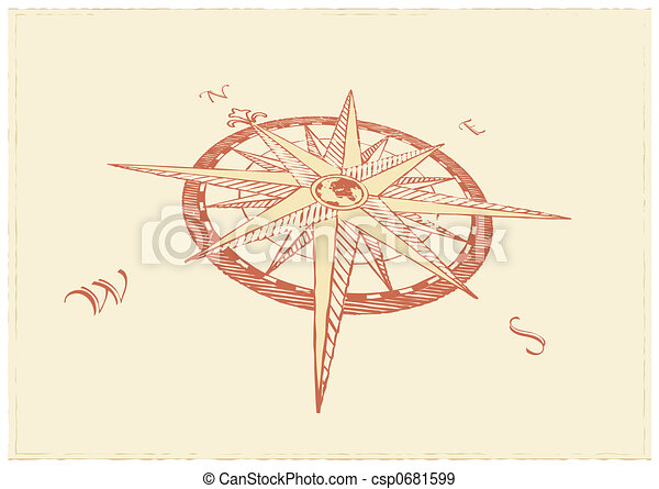 Compass Windrose - csp0681599