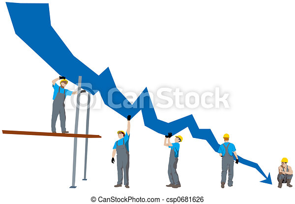 Business failure and depression graph - csp0681626