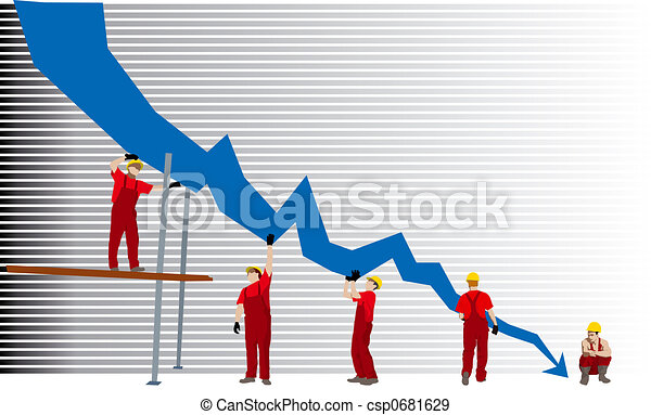Business failure and depression graph - csp0681629