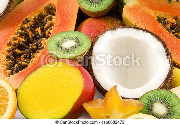 Tropical fruits - csp0682473