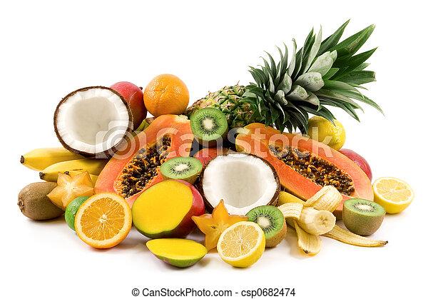 Tropical fruits - csp0682474