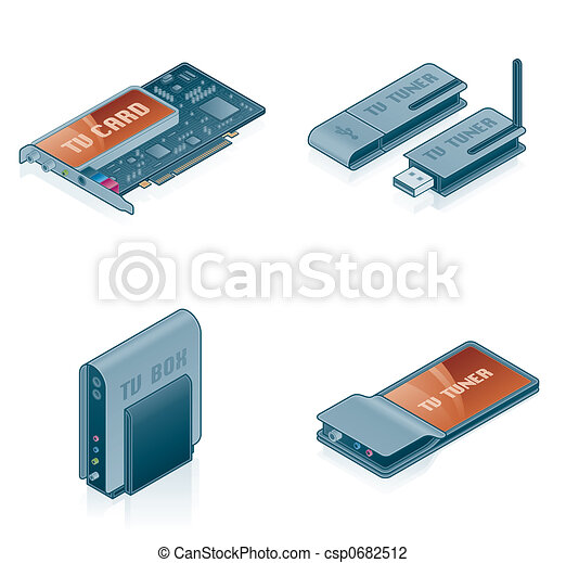 Computer Hardware Icons Set - Design Elements 55k - csp0682512