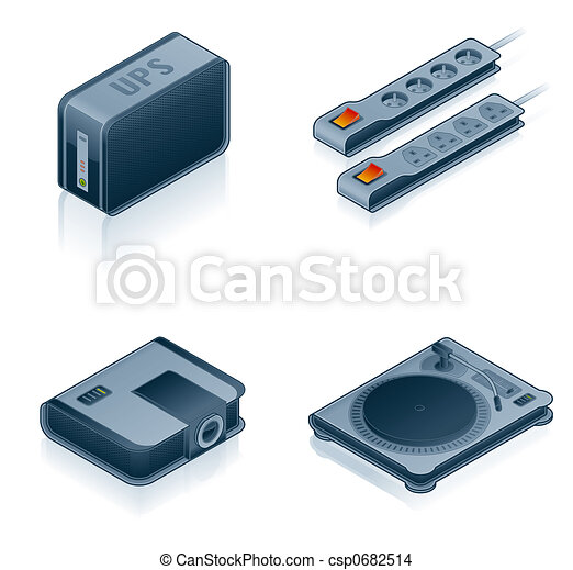 Computer Hardware Icons Set - Design Elements 55i - csp0682514