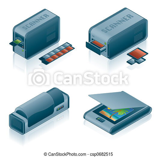 Computer Hardware Icons Set - Design Elements 5h - csp0682515