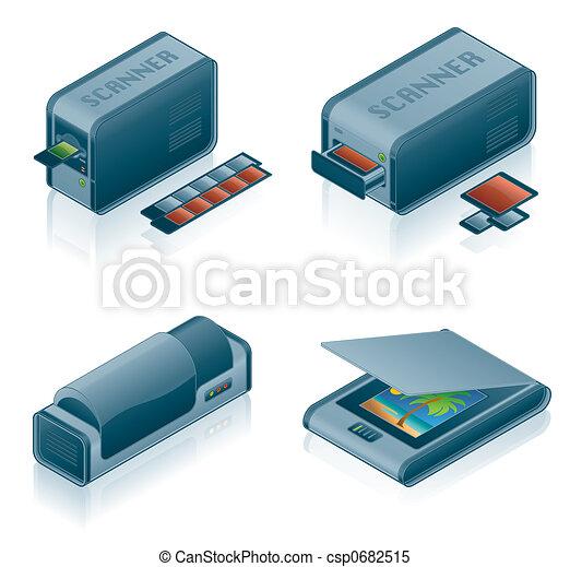 Computer Hardware Icons Set - Design Elements 5h - csp0682515