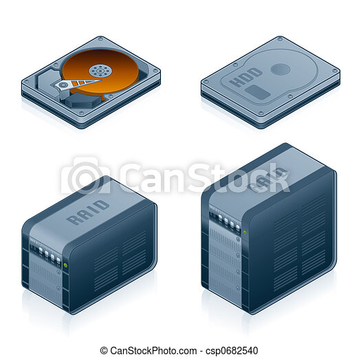 Computer Hardware Icons Set - Design Elements 55d - csp0682540