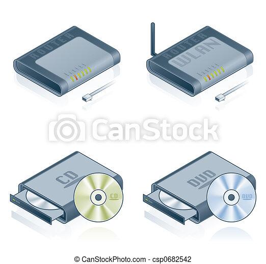Computer Hardware Icons Set - Design Elements 55b - csp0682542