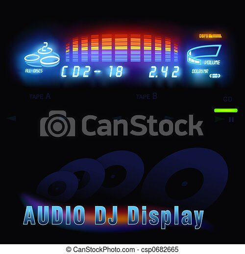 Audio DJ display - csp0682665