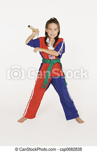 Model Release #287 Seven year old practicing Martial Arts