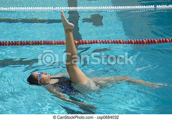 Synchronized Swimmer - csp0684032