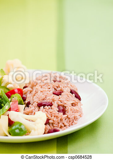 Caribbean Style Rice with Vegetables - csp0684528