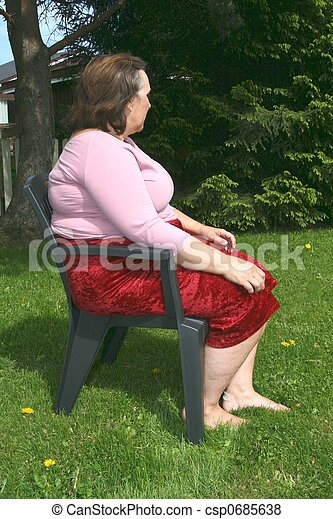 Obese woman - csp0685638
