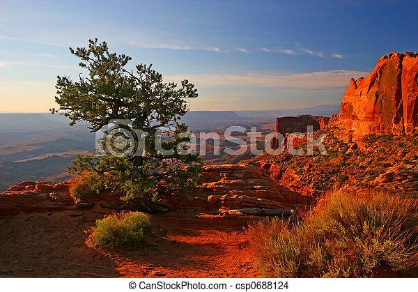 Sunrise in Canyonlands - csp0688124