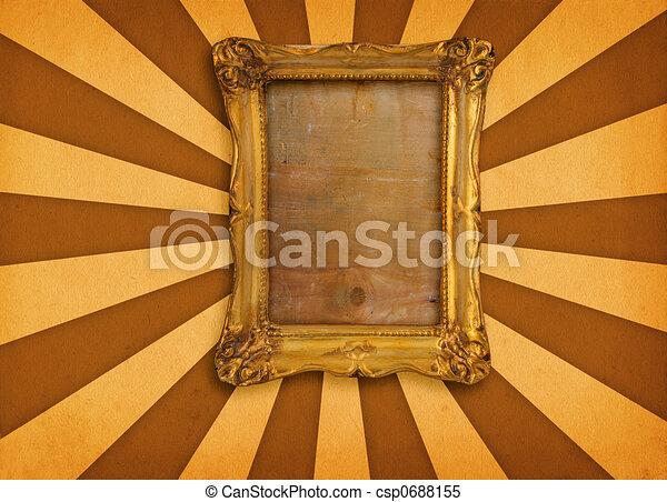 frame on retro background - csp0688155