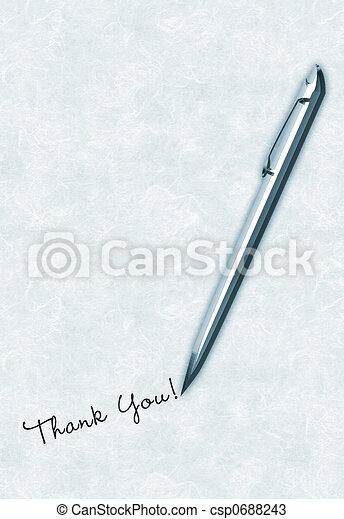 Writing Thank You