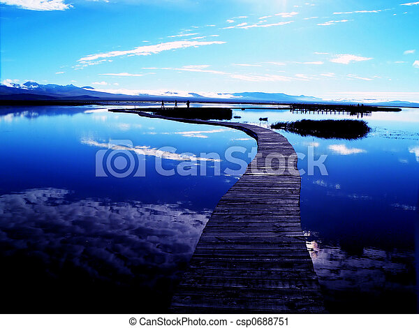 Peaceful Lake - csp0688751