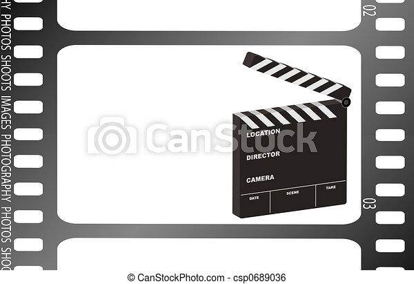 film strip clapper - csp0689036