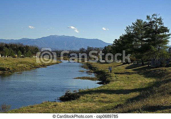 Mt. LeConte (Great Smoky Mtns), Little Pigeon River, Sevierville, TN - csp0689785