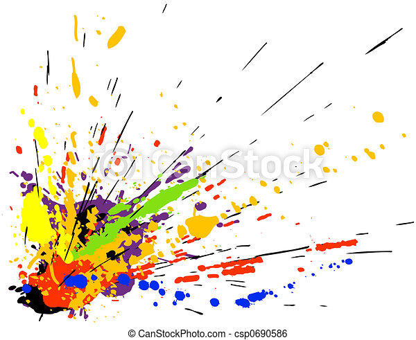 Paint splatter - csp0690586