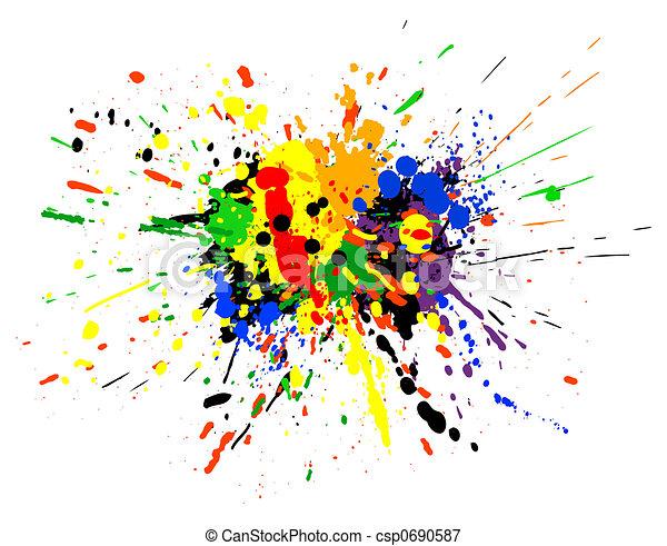 Paint spill - csp0690587
