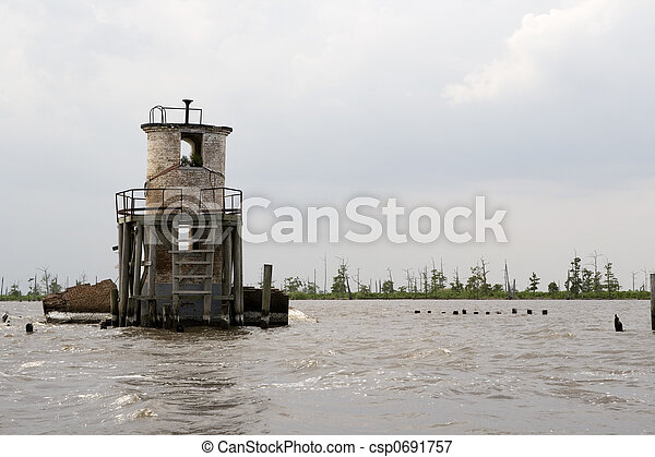 Pass Manchac Lighthouse, Louisiana - csp0691757