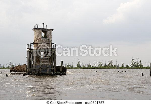 Pass Manchac Lighthouse, Louisiana - csp0691757