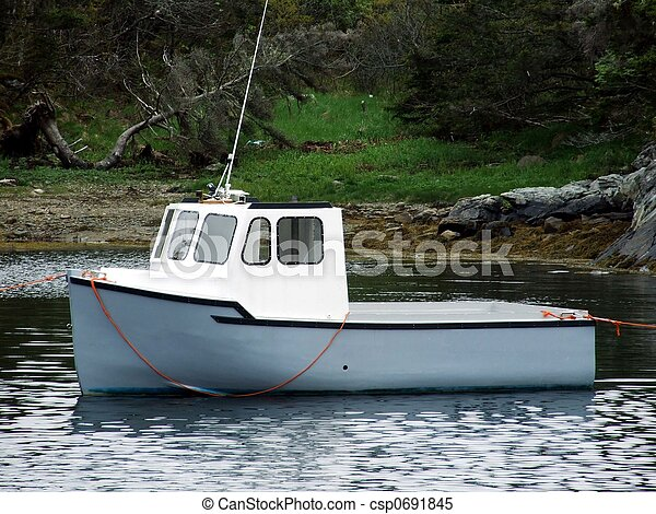 Stock Images of small lobster boat - mini cape islander lobster fishing boat... csp0691845 ...