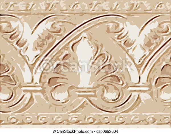 Abstract ornamental flora - csp0692604