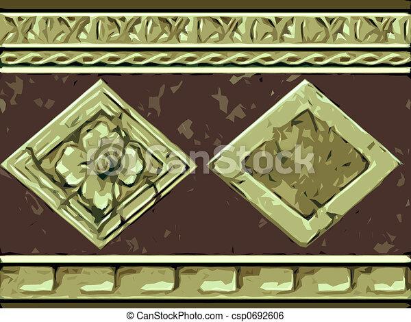 Abstract ornamental flora - csp0692606