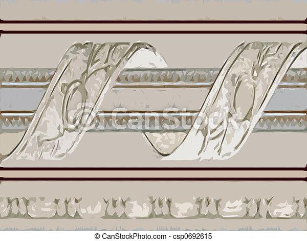 Abstract ornamental flora - csp0692615