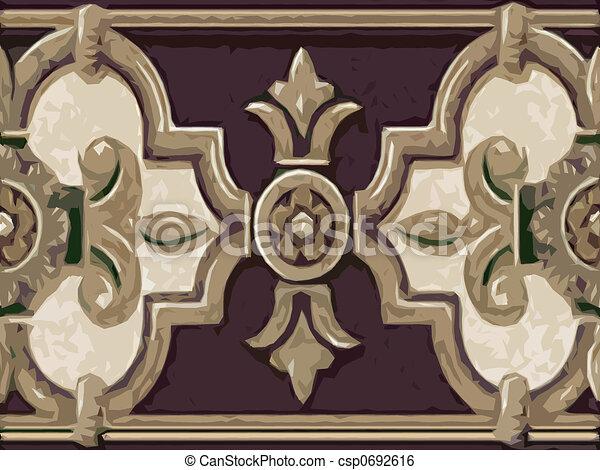 Abstract ornamental flora - csp0692616