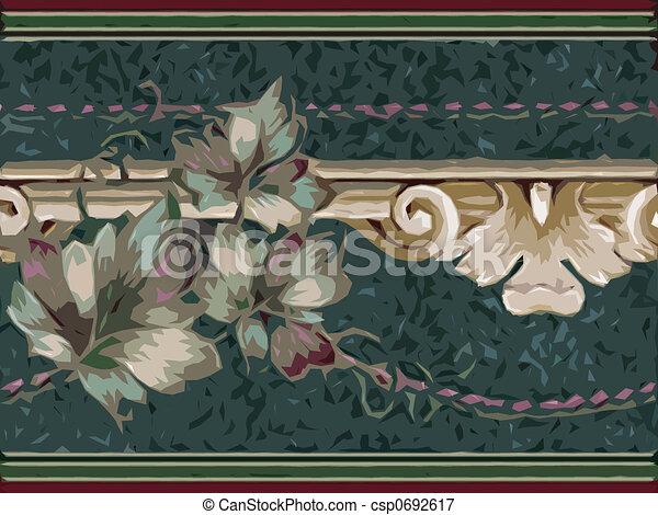 Abstract ornamental flora - csp0692617
