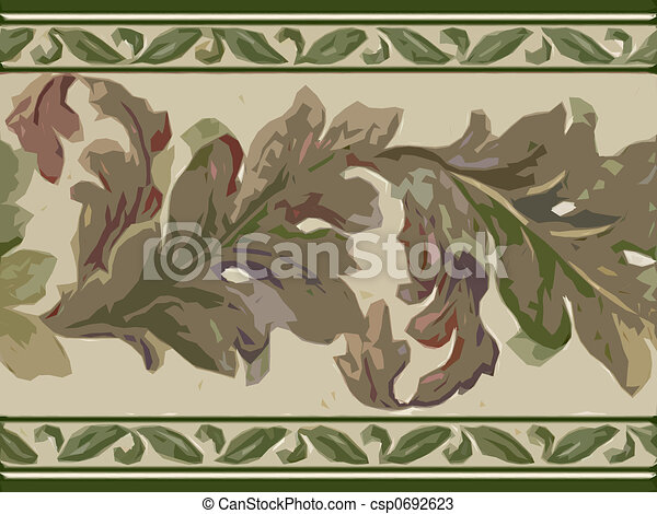 Abstract ornamental flora - csp0692623