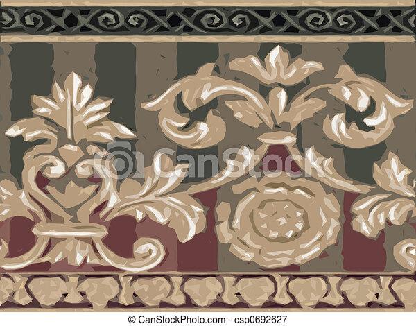 Abstract ornamental flora - csp0692627