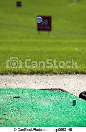 Golfball in Flight - csp0693146