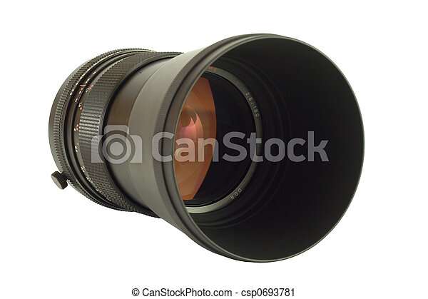 Old telephoto lens - csp0693781
