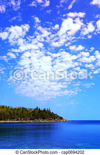 scenico, lago, vista - csp0694202