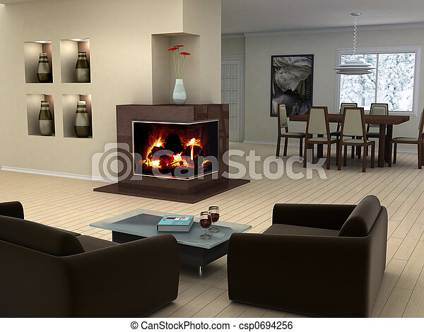 Home interior design - csp0694256