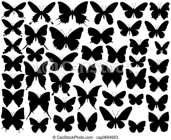 Butterfly shapes - csp0694953