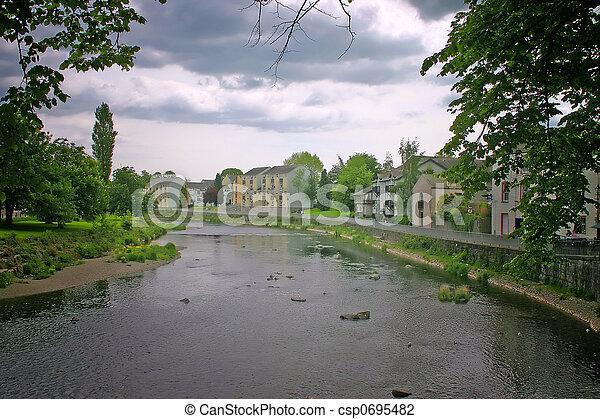 Beautiful River in Kendal Cumbria - csp0695482
