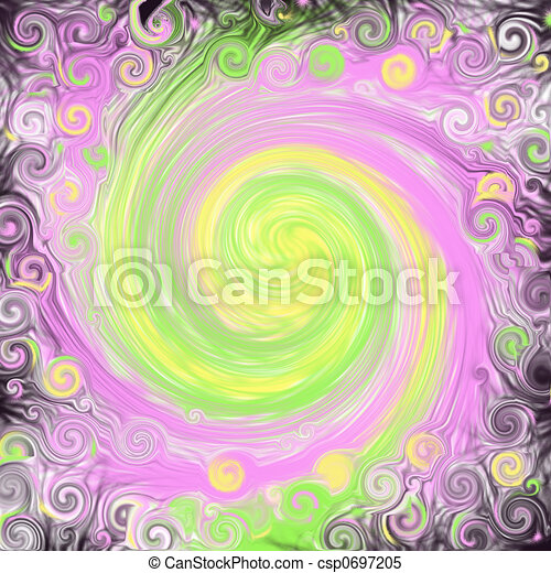 Black Fantasy Swirl - csp0697205