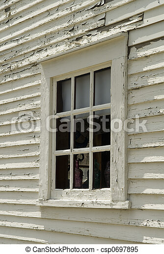 Old Colonial Window - csp0697895