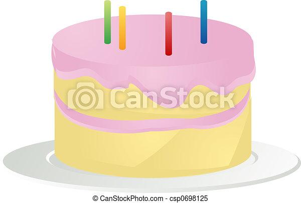Birthday cake illustration - csp0698125