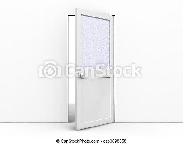 Door Opening Drawing Open Door Csp0698558