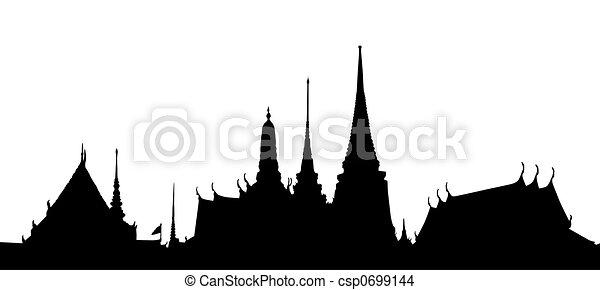 Thai temple - csp0699144